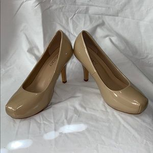 Nude pump heels